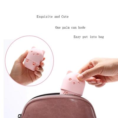 Chaton-beaut-poudre-bouff-e-m-langeur-titulaire-ponge-maquillage-oeuf-s-chage-tui-Portable-doux