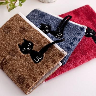 Petite serviette/essuie-mains Chat en coton bouclettes