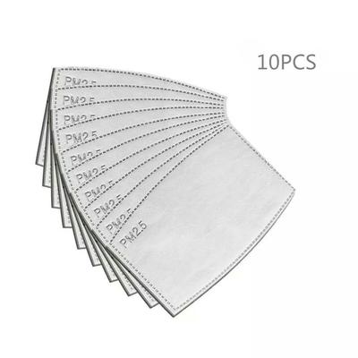 Masque : lot de 10 filtres à usage unique