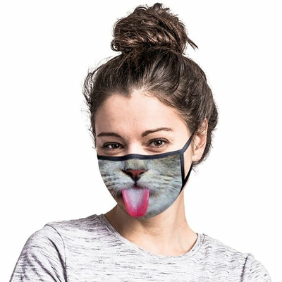 Masque lavable museau de Chat (lot de 5)