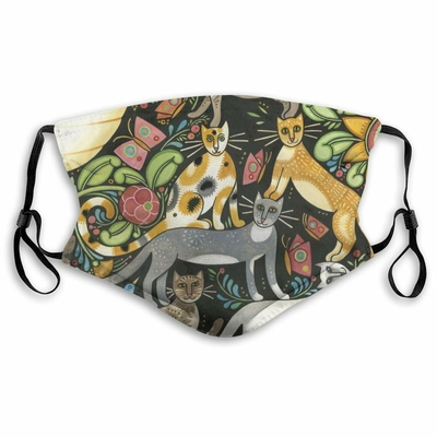 Masque lavable Chat jungle