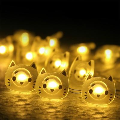 Guirlande LED petites têtes de Chats