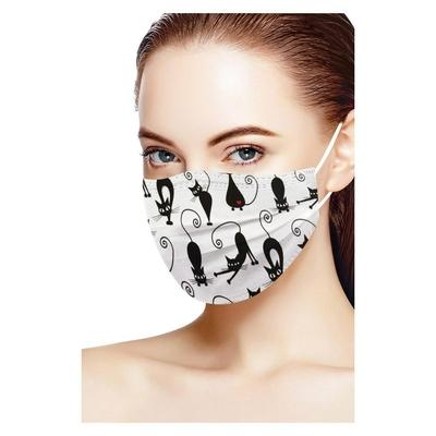 Masques adultes jetables Chats farceurs (lot de 20)