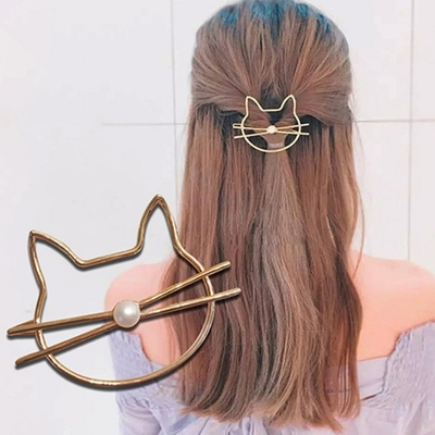 Barrette à cheveux Chat