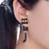 Boucles d'oreilles tendance Chat rigolo