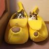 Coussin maison pour Chat qui a la banane