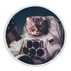 Serviette-de-plage-ronde-chat-avec-des-glands-pour-l-t-480g-microfibre-150-cm-tapisserie
