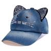 BINGYUANHAOXUAN-unisexe-casquette-de-Baseball-enfants-chat-oreilles-Rivets-soleil-Cowboy-chapeau-Snapback-casquette-pour-gar