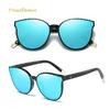 2019-Mode-Couleur-de-Luxe-Plat-Top-Cat-Eye-Femmes-lunettes-de-Soleil-l-gant-oculos