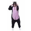 Animal-noir-chat-Onesie-ventre-Kigurumi-adulte-femmes-fantaisie-une-pi-ce-combinaison-polaire-l-che