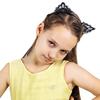 1-PC-femmes-dame-filles-oreilles-de-chat-Sexy-noir-dentelle-bandeaux-sangles-cheveux-cerceau-partie