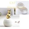 Boîte à bijoux Chat céramique