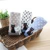 Lot de 3 serviettes/essuie-mains broderie Chat en coton bouclettes