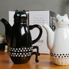 Ensemble théière ou cafetière Chat céramique