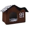 Hot-amovible-chien-lits-Double-Pet-House-brun-chien-chambre-chat-lits-chien-coussin-de-luxe