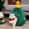 Maison-en-forme-d-arbre-de-no-l-Mignon-chien-de-chat-maison-souple-pliable-hiver