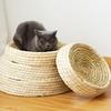 Panier en paille naturelle tressée pour votre Chat