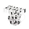 Unisexe-noir-chat-imprim-doux-masques-20pc-masques-de-bouche-pour-adultes-3-couches-de-protection
