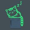 Mignon-interrupteur-lumineux-Autocollant-Creative-Chaton-Chat-Lumineux-Noctilucent-Glow-autocollant-mural-interrupteur-Chambre-D-enfants