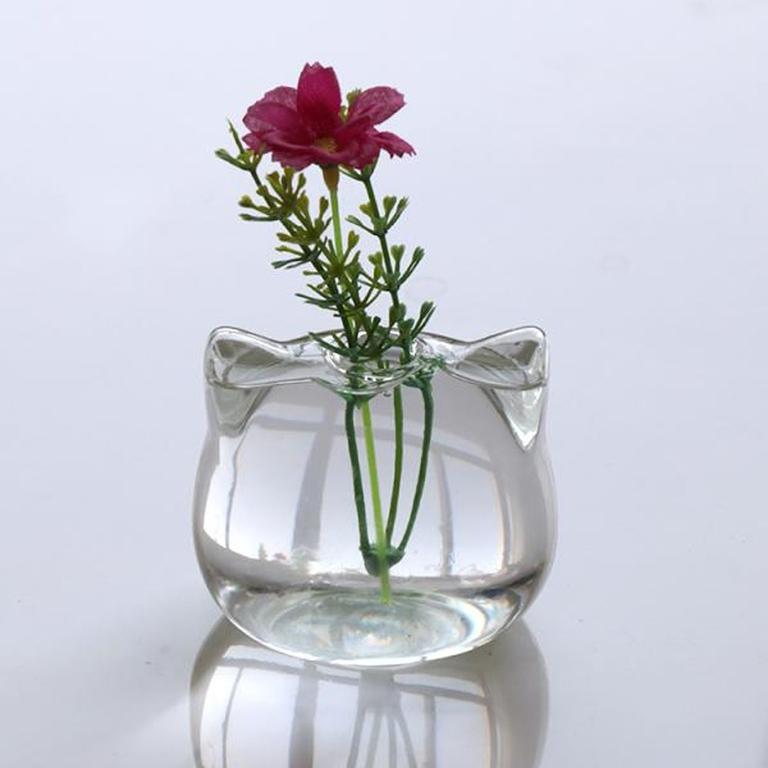 Chat-En-Forme-de-Vase-En-Verre-Hydroponique-Fleurs-Plantes-Vase-Terrarium-Container-Pot-D-cor