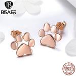 3-couleur-Chat-Patte-Boucles-D-oreilles-Pour-Fille-V-ritable-925-En-Argent-Sterling-Mignon