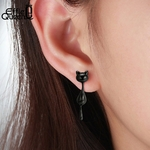 Effie-Reine-100-925-En-Argent-Sterling-Boucles-D-oreilles-Pour-Les-Femmes-Noir-Gun-Plaqu