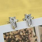 JEMMIN-Livraison-Gratuite-De-Mode-925-Bijoux-En-Argent-Sterling-Boucle-D-oreille-Belle-Chat-CZ