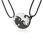 Rinhoo-Couples-Bijoux-Noir-blanc-Couple-Collier-En-Acier-inoxydable-animal-chat-Pendentifs-Collier-drop-shipping