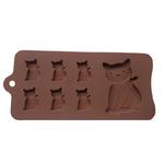 Nouveau-Chat-Chaton-7-Cavit-Silicone-Moule-pour-Fondant-P-te-sucre-Chocolat-Artisanat-MF100