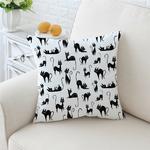 BeddingOutlet-bande-dessin-e-housse-de-coussin-Animal-taie-d-oreiller-mignon-chats-imprim-jeter-couverture
