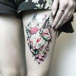 Autocollant-de-tatouage-temporaire-tanche-t-te-de-cr-ne-de-chat-tigre-faux-tatouage-flash