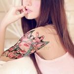Autocollant-de-tatouage-temporaire-tanche-tigre-chat-lapin-faux-tatto-flash-tatoo-tatouage-autocollants-bras-de