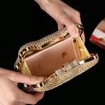 Mode-luxe-diamant-argent-sacs-de-soir-e-t-te-de-chat-or-strass-embrayage-noeud