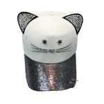 Femme-mignon-chat-oreille-Sequin-anneau-casquette-de-Baseball-chapeau-Hip-Hop-plat-chapeau-gorras-para