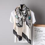 Grand-Foulard-en-soie-pour-femmes-de-luxe-dessin-anim-chat-Design-imprim-Foulard-grand-ch