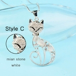 SINLEERY-mignon-opale-pierre-strass-Animal-chat-pendentif-Long-colliers-pour-femmes-fille-bijoux-cadeaux-MY410