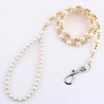 Perles-de-luxe-perles-chien-laisse-cha-ne-pour-animaux-de-compagnie-blanc-or-laisse-pour