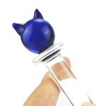 Chat-bleu-verre-godemichet-anal-anal-jouets-sexuels-pour-femme-lesbienne-G-SPOT-gicler-cristal-clair