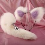 Mignon-doux-chat-oreilles-bandeaux-avec-40-cm-queue-de-renard-arc-m-tal-bout-bout