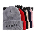 WZCX-oreilles-de-chat-broderie-strass-incrustation-Skullies-bonnets-sertissage-d-contract-unisexe-Version-cor-enne