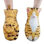 Gants-isolants-pour-four-longues-pattes-de-chat-bande-dessin-e-3D-en-coton-r-sistant