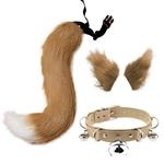 Ensemble-de-pinces-cheveux-et-collier-ras-du-cou-en-Faux-cuir-fausse-fourrure-chaton-loup