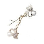 M-MISM-Nouvelles-Filles-De-Mode-Cristal-Strass-Chat-Oreille-Pinces-Cheveux-pingles-Cheveux-Chapeaux-Perles