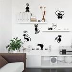 Belle-Chat-Lumi-re-Interrupteur-T-l-phone-Stickers-Muraux-Pour-Enfants-Chambres-Bricolage-D-coration