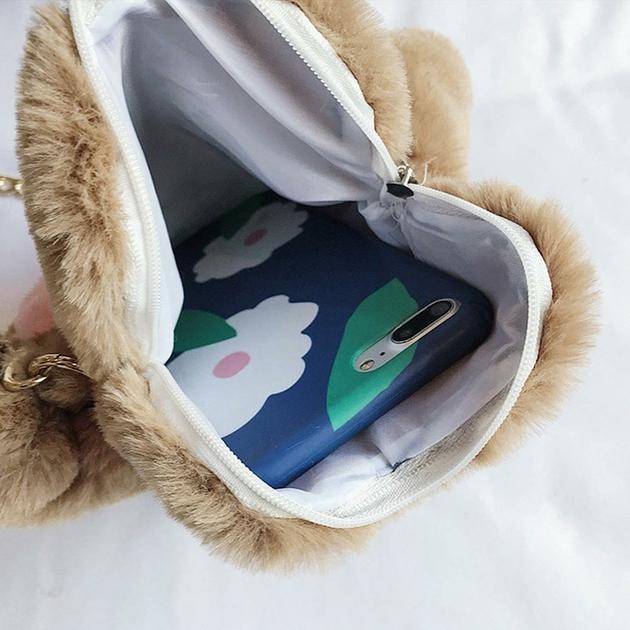acac52bea6 Sac à main pattoune de Chat en peluche - sacs & bagages - Les 3 chats