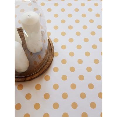 Nappe en coton imprimé collection IZAR JAUNE