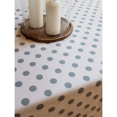 Nappe en coton imprimé collection IZAR bleu