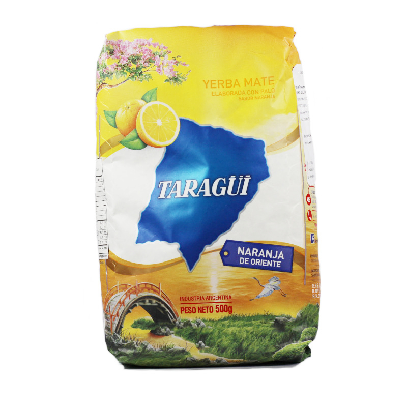 Taraguï Yerba Maté à l\'orange d\'orient avec tiges