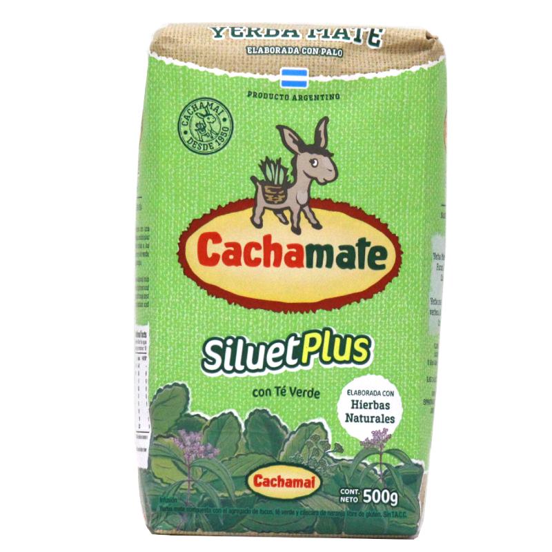 Cachamate Yerba Maté silhouette plus au thé vert avec tiges