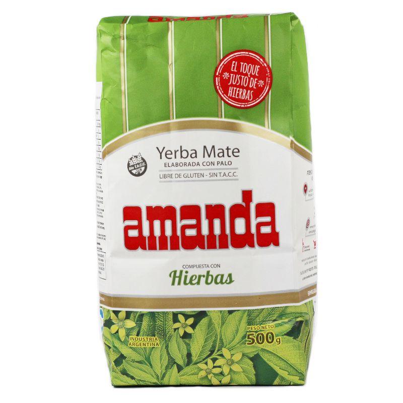 Amanda Yerba Maté mélange d\'herbes avec tiges